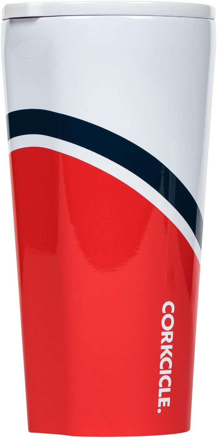 Corkcicle 16oz Tumbler - Regatta Collection - Triple Insulated Stainless Steel Travel Mug, Regatta Red