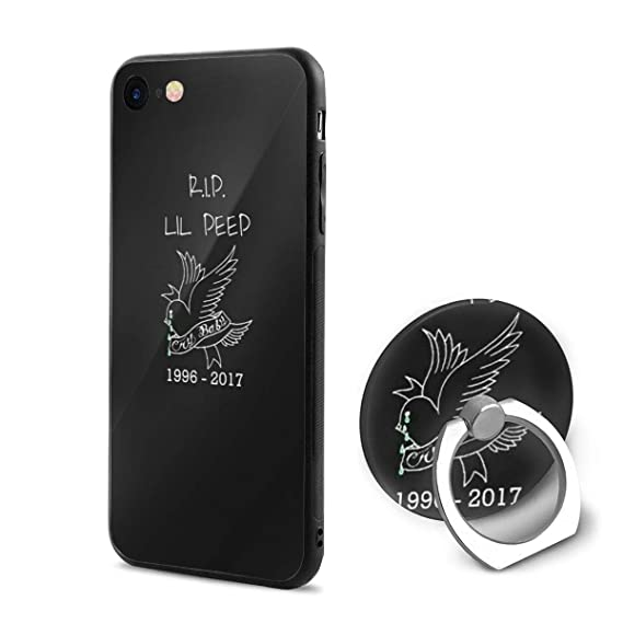 new concept cb2a0 dae54 Rip Lil Peep Phone Case Ring Holder iPhone 6/6s/6 Plus/6s Plus/7/8/7 Plus/8  Plus/X Case, 4.7Inch/5.5Inch/5.8 Inch