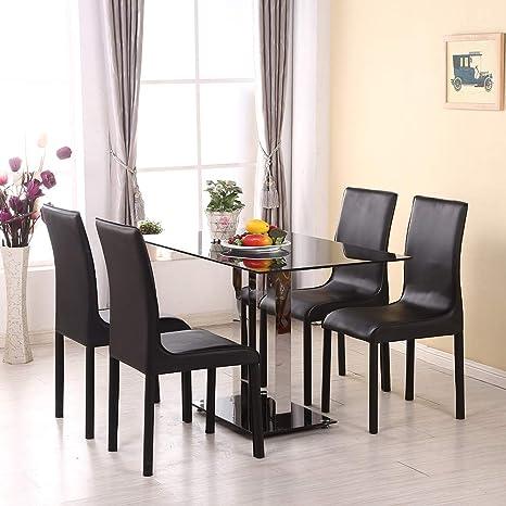 Conemi - Mesa de Comedor y sillas de Cristal, Juego de 1 ...