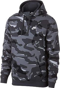Nike M NSW Club Camo Hoodie Po Sweat Capuche BB , Homme