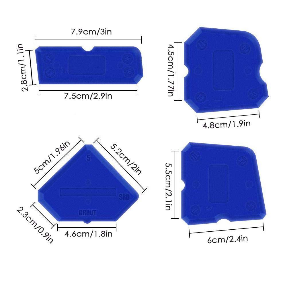 GroBartig Schneidwerkzeuge Cracklight 9 Stück Dichtungsmittel Werkzeuge Abdichtung  Kit Entferner Abdichtung Silikon Finishing Tool Rahmen Dichtungen Dichtung  ...