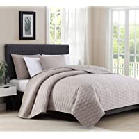 Bourina Reversible Bedspread Coverlet Set - Microfiber Lightweight Comforter 3-Piece Quilt Set
