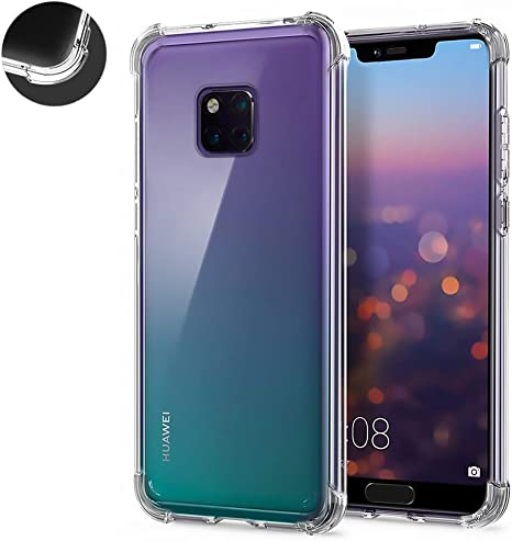 2 Pack] AChris Funda Compatible con Huawei Mate 20 Pro Carcasa ...
