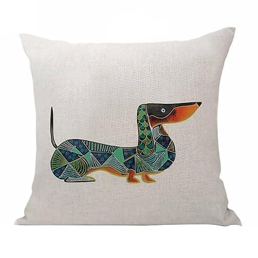good01 Lovely funda de almohada de lino sofá cintura funda ...