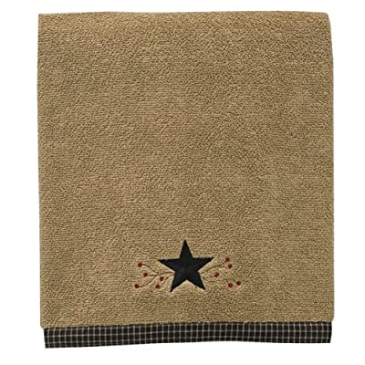 Star Vine Bath Towel By Park Designs - Star Vine Bath Towel, 50 in X 28 in 100% cotton Terry Cloth. Thick and absorbent. Applique star with embroidered vines. - bathroom-linens, bathroom, bath-towels - 61NKzEgFXsL. SS400  -