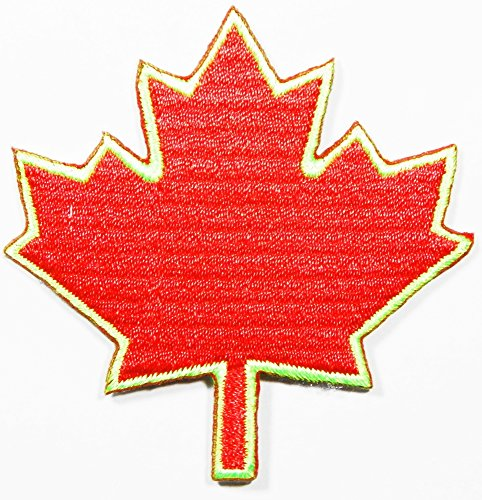 Canada Canadian Maple Leaf Embroidered Applique Iron on Patch Approx:2.5
