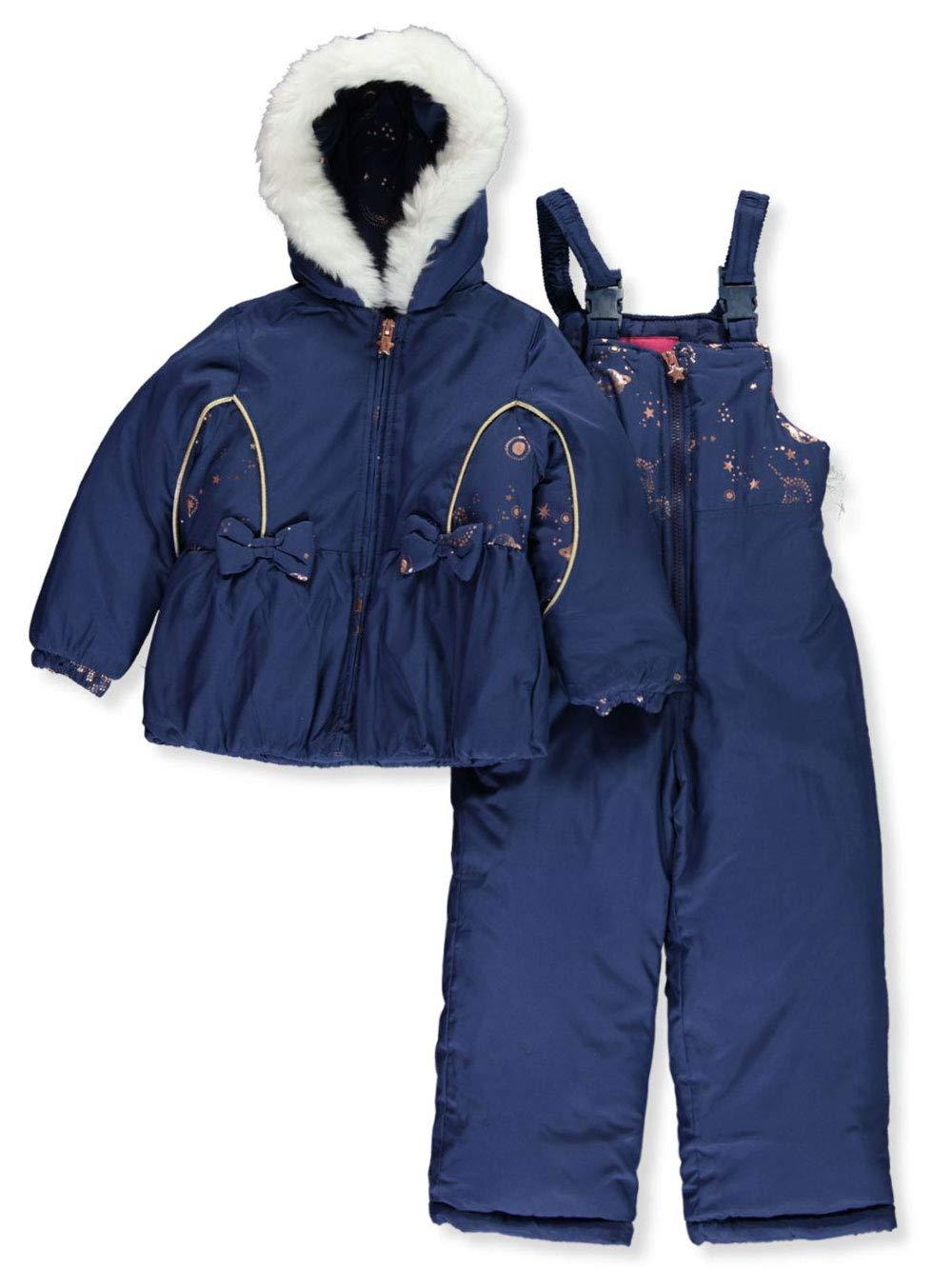 London Fog Girls' Little Snowsuit with Snowbib