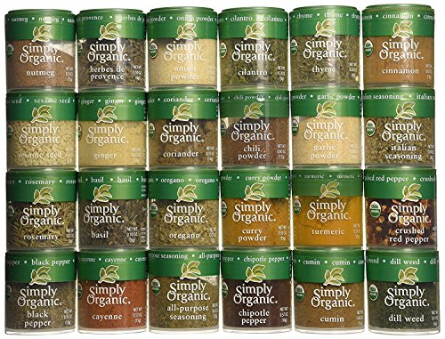 Ultimate Organic 24 Spices Starter Gift Set with 25 Spice Clips