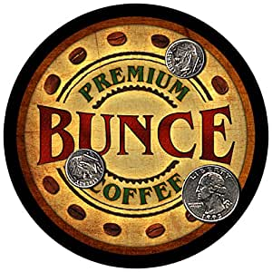 Bunce Family Coffee Rubber Drink Coasters - Set of 4