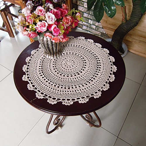 yazi Handmade Round Crochet Cotton Lace Table Placemats Doilies 10""