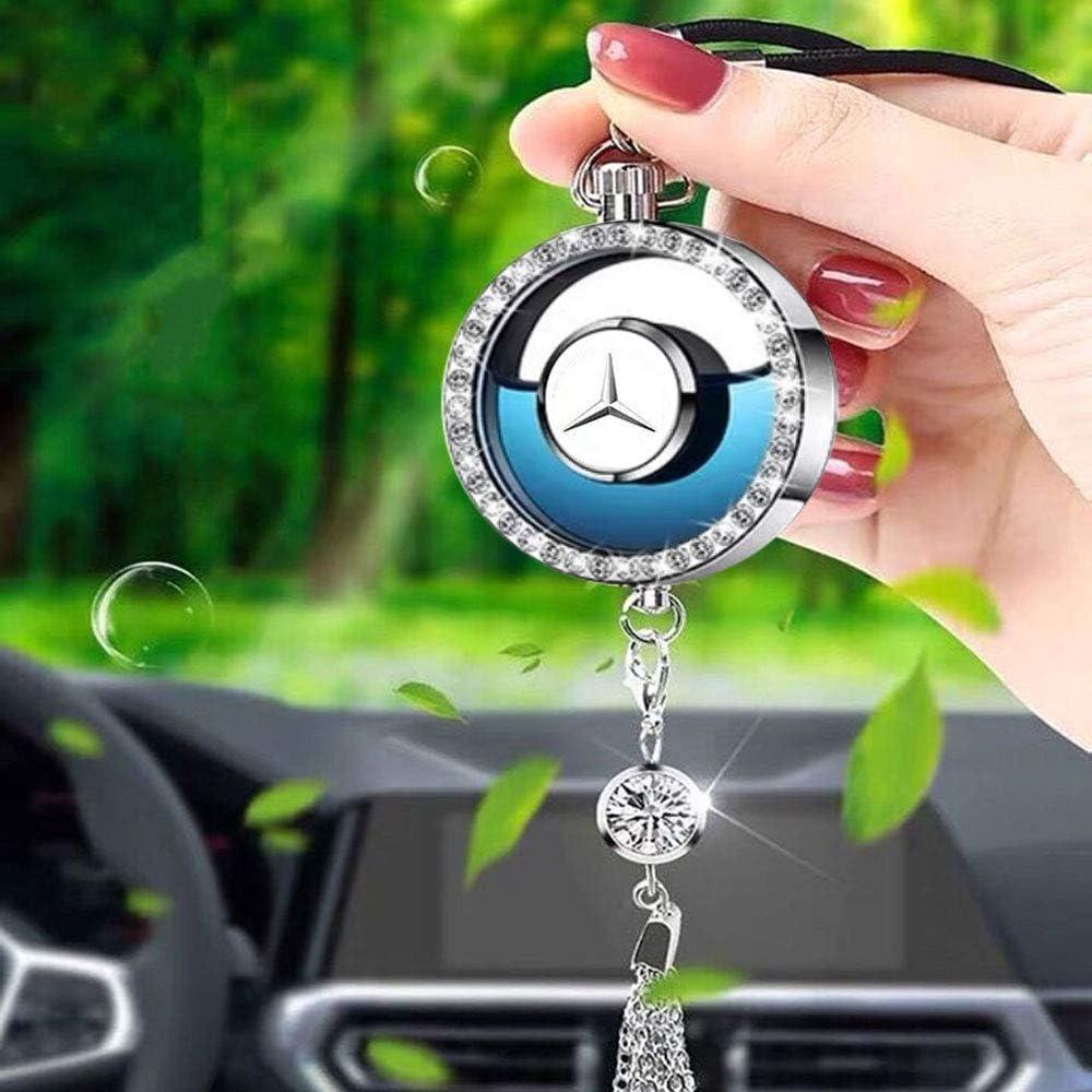 Auto Lufterfrischender Auto Parfüm Anhänger Container Erfrischer Exquisit Diamant Ornamente Rückspiegel Anhänger For Nissa N Drogerie Körperpflege