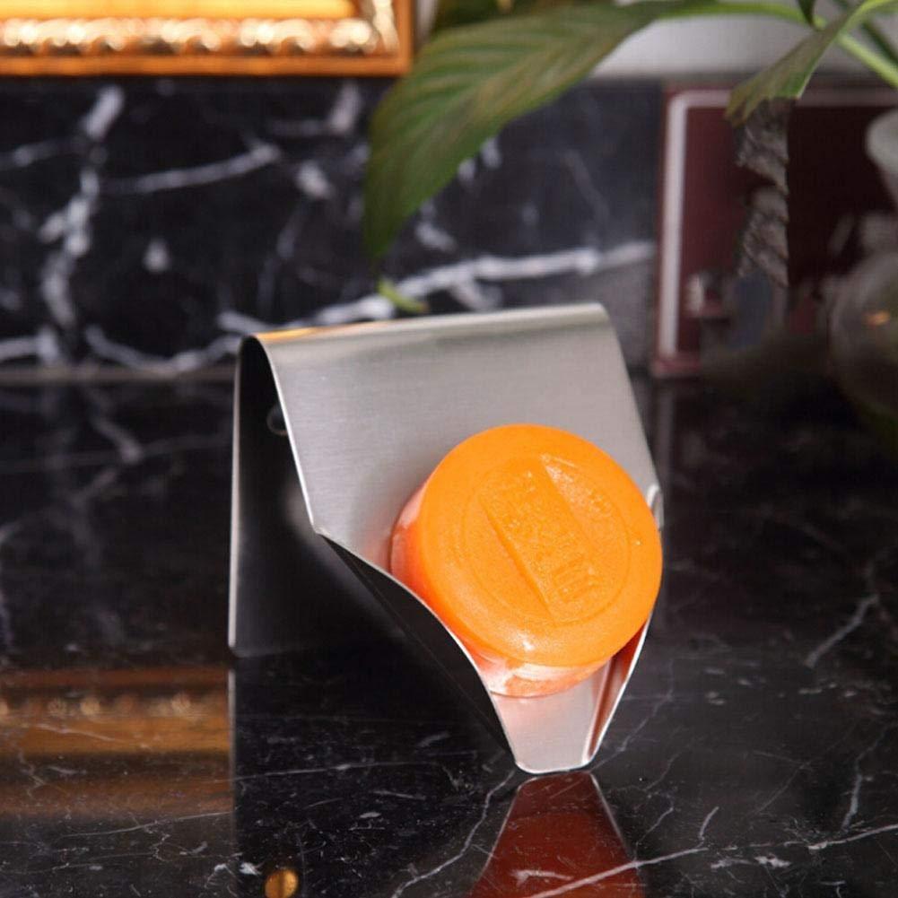 STARKWALL Invitono in Acciaio Sapone Titolare Bagno Punch-Free Parete Hanging Soap Box Creative Soap Rack Drain Soap Holder