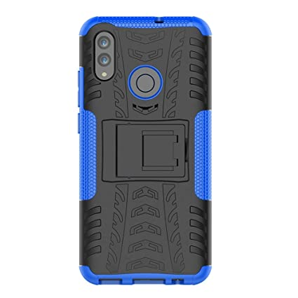 KISCO para Fundas Huawei P Smart 2019,2 en 1 Híbrido Suave TPU y Duro PC Anti-Rasguño Carcasa Cover Case con Soporte Cover de Protección para Huawei P ...