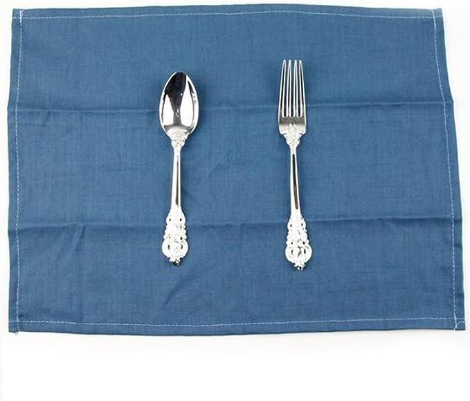 Cok. Juego de 2 servilletas de Lino y Algodón para Mesa de Comedor, café, Cocina, etc.: Amazon.es: Hogar