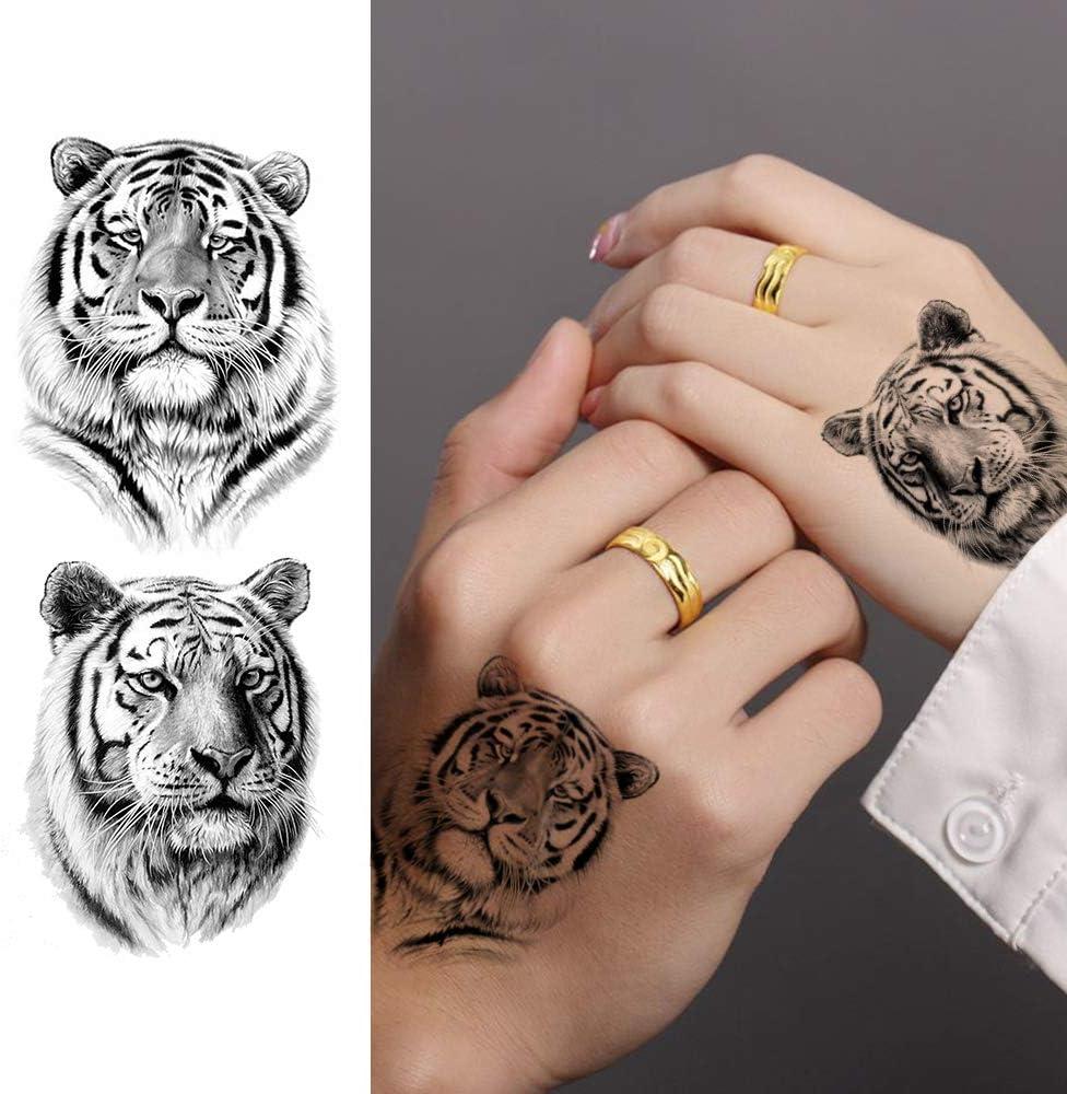 LAROI 10 Hojas 3D Grande Realista Cara Tigre Tatuajes Temporales ...