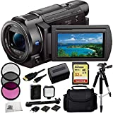 Sony 4K HD Video Recording FDRAX33 FDR-AX33 Handycam Camcorder + 32GB Bundle 10PC Accessory Kit Includes SanDisk Extreme 32GB UHS-I/U3 SDHC Memory Card (SDSDXN-032G-G46) + 3 Piece Filter Kit (UV-CPL-FLD) + Extended Life Replacement Battery + Carrying Case