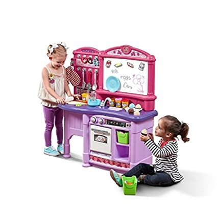 Amazon Com Step2 Create Bake Kitchen Pink Play Kitchen With Toy