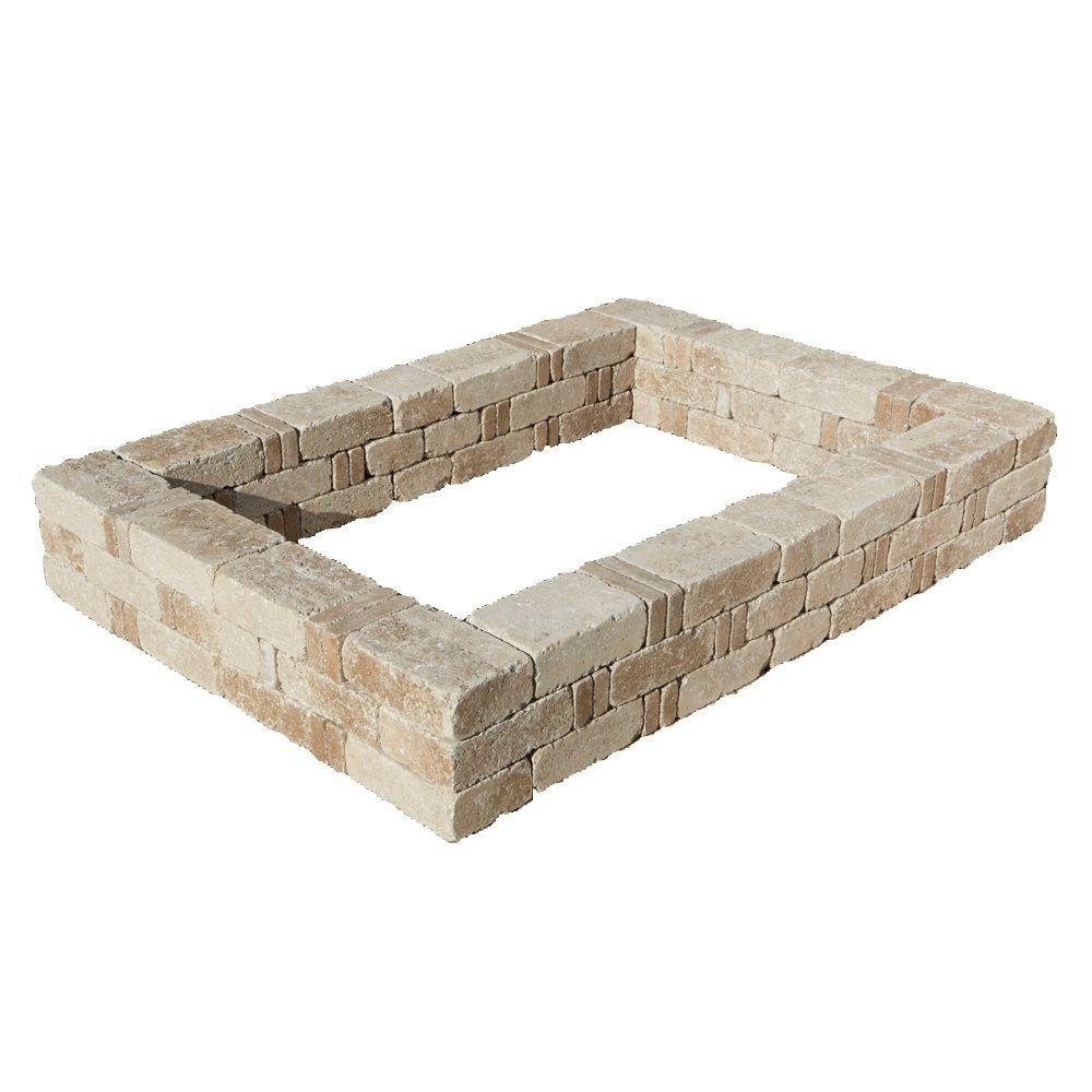 49 in. x 49 in. RumbleStone Small Raised Garden Bed in Cafe by Pavestone Rumblestone Inc.