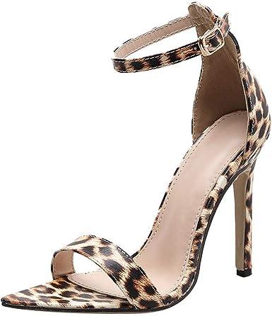 Dener Women Ladies Girls Sandals With High Heels Leopard
