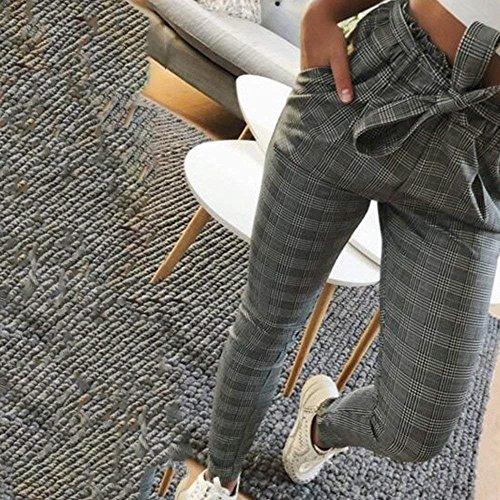 Waist Solidi Fashion Pantaloni Inclusa Cintura Pantaloni Tempo Pantaloni marca Slim Estivi Grün Libero Fit Donna Elegante Pants Lunghe High A Matita Mode di Colori IzHwz0
