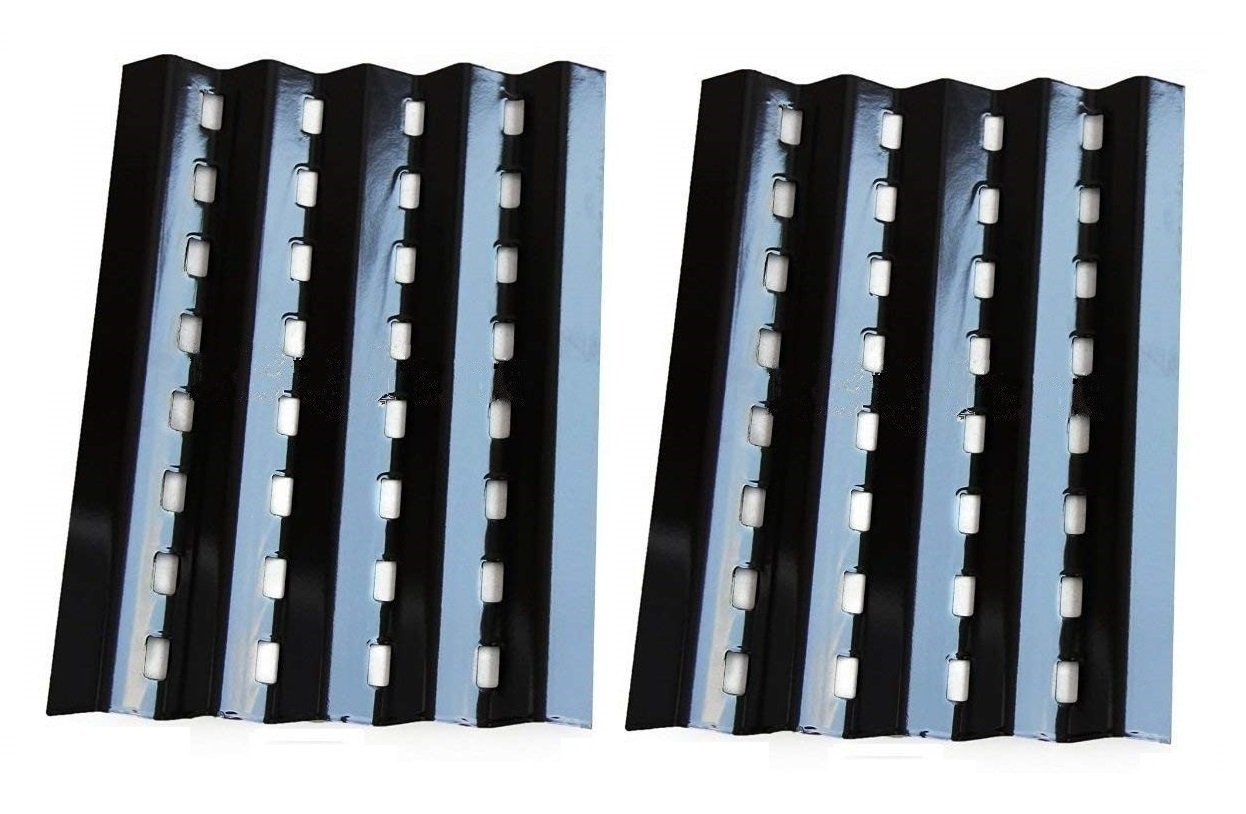 Hongso Porcelain Steel Heat Plate Lowes Model Grills Replacement Parts for Brinkmann 2250, Charmglow 810-2320 Gas Grill Model, 16 3/8 Inch Gas Grill Burner Covers Replacement Part,Set of 2 (PPZ242) by Hongso