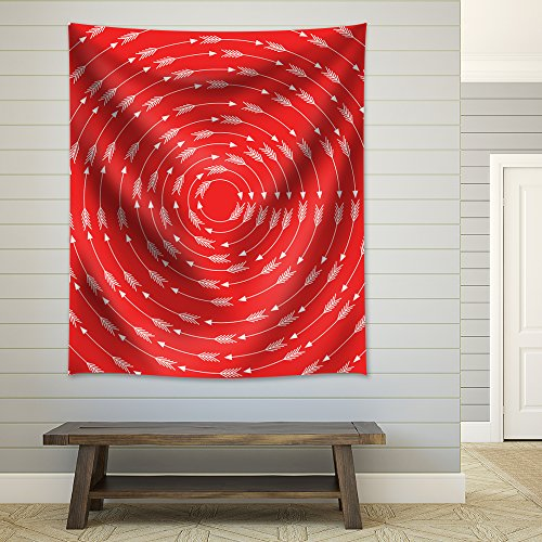 Whirlwind of Arrows on a Red Background