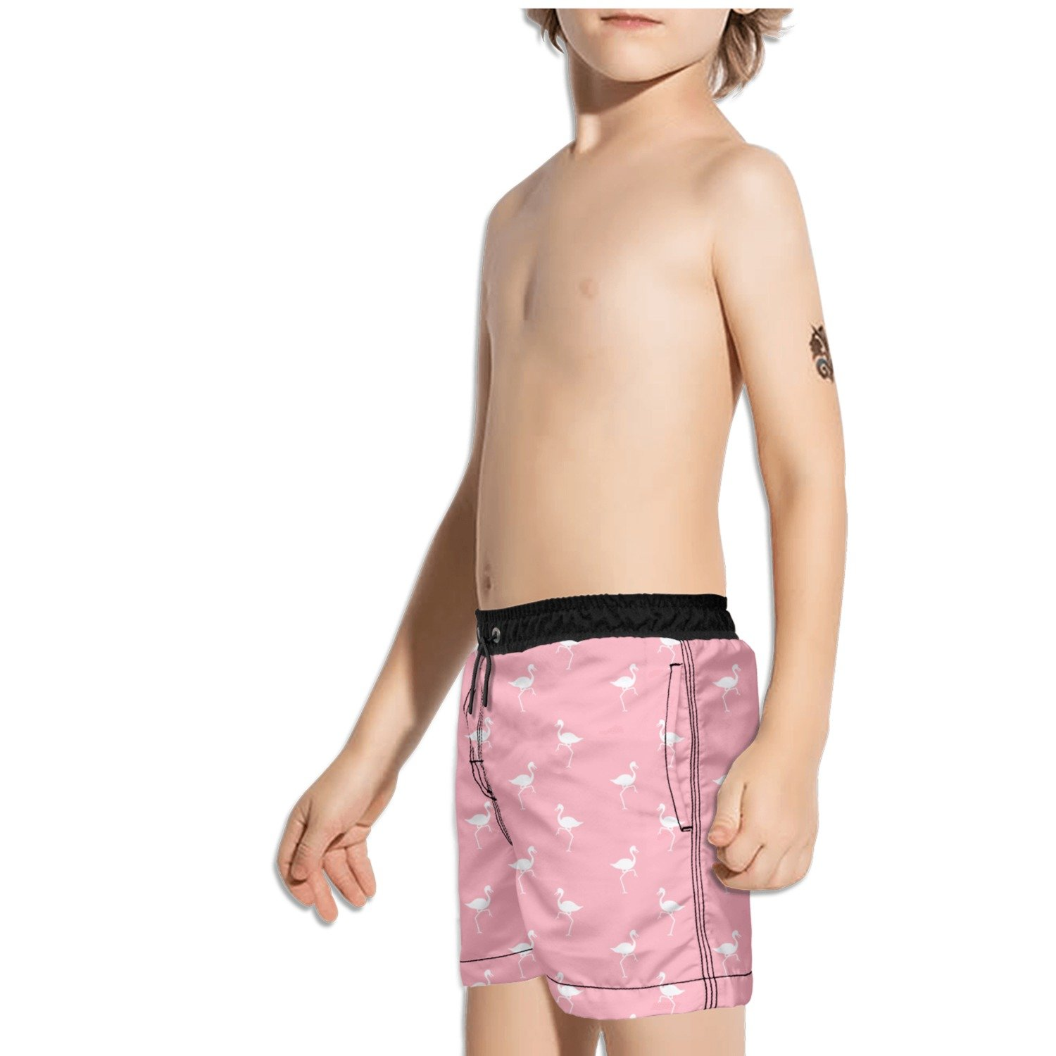 Ouxioaz Boys Swim Trunk Flamingo Brid Beach Board Shorts