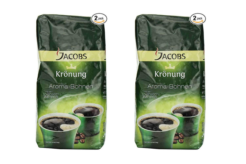 Jacobs Kroenung Aroma-Bohnen (Kroenung Whole Bean Coffee), 17.6-Ounce Vacuum Packs (Pack of 2) (2 Pack)