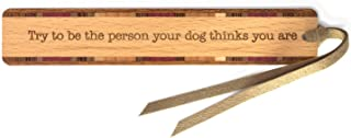product image for Personalized Humorous Dog Quote - Engraved Wooden Bookmark with Suede Tassel