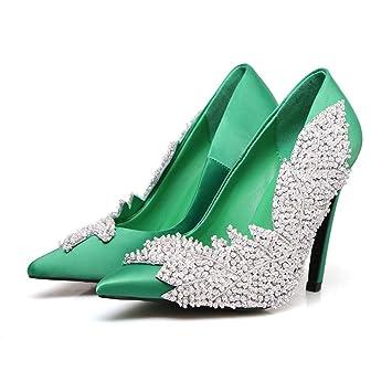 96332166236fc Women's High Heels 2019 New Satin Pumps Closed Toe Stiletto Shoes ...