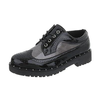 Zapatos Para Mujer Mocasines Tacón Ancho Zapatos con Cordones Negro Tamaño 41: Amazon.es: Zapatos y complementos