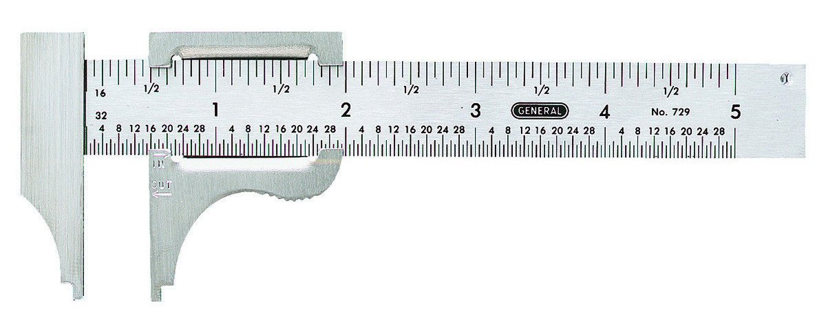 New General Tools 729 Stainless Steel Quality 5'' Inch Caliper Tool Sale Price''