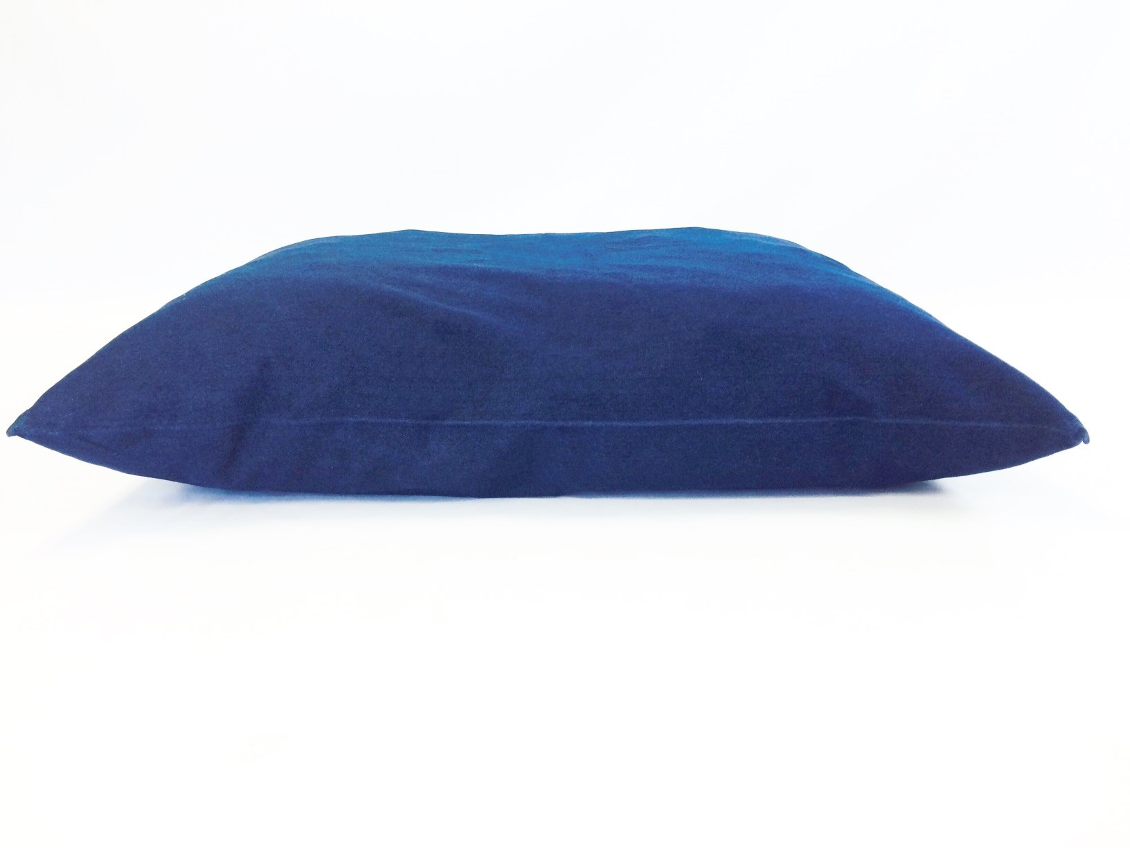 36''x29'' Medium Size MicroCushion High Density Memory Foam Soft Poly Fiber Waterproof Pet Pillow Bed with Removable Zippered Durable Blue Denim Jean Cover Case for Small to Medium Dogs