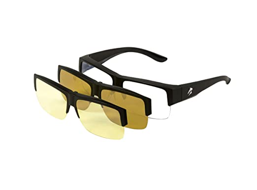 c055e418b1 Eagle Eyes 3in1 SuperSight Computer Base Lens with Magnetic Polarized  Sunglasses Night Driving Clip-
