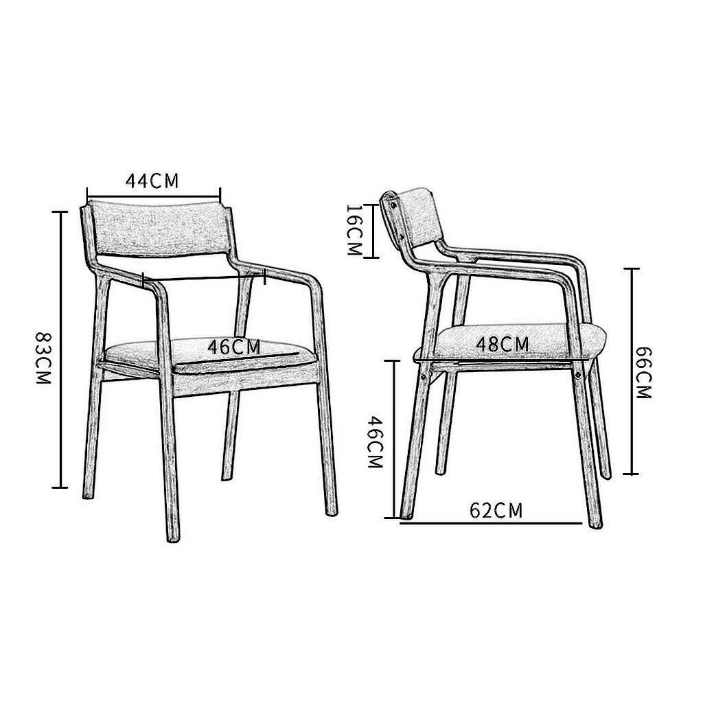 LQ Trä matstol fåtölj med armstöd och rygg stoppad vadderad sits bärbar för barn vuxna kök dator skrivbord matpall – mintgrönt konstläder, färg: B (färg: B) a
