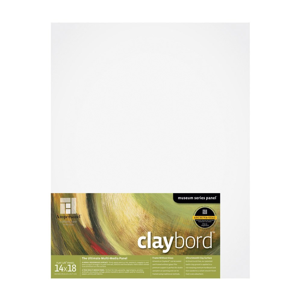 Ampersand Art Claybord Uncradled 1/8 Profile 14 x 18 AMPERSAND ART SUPPLY