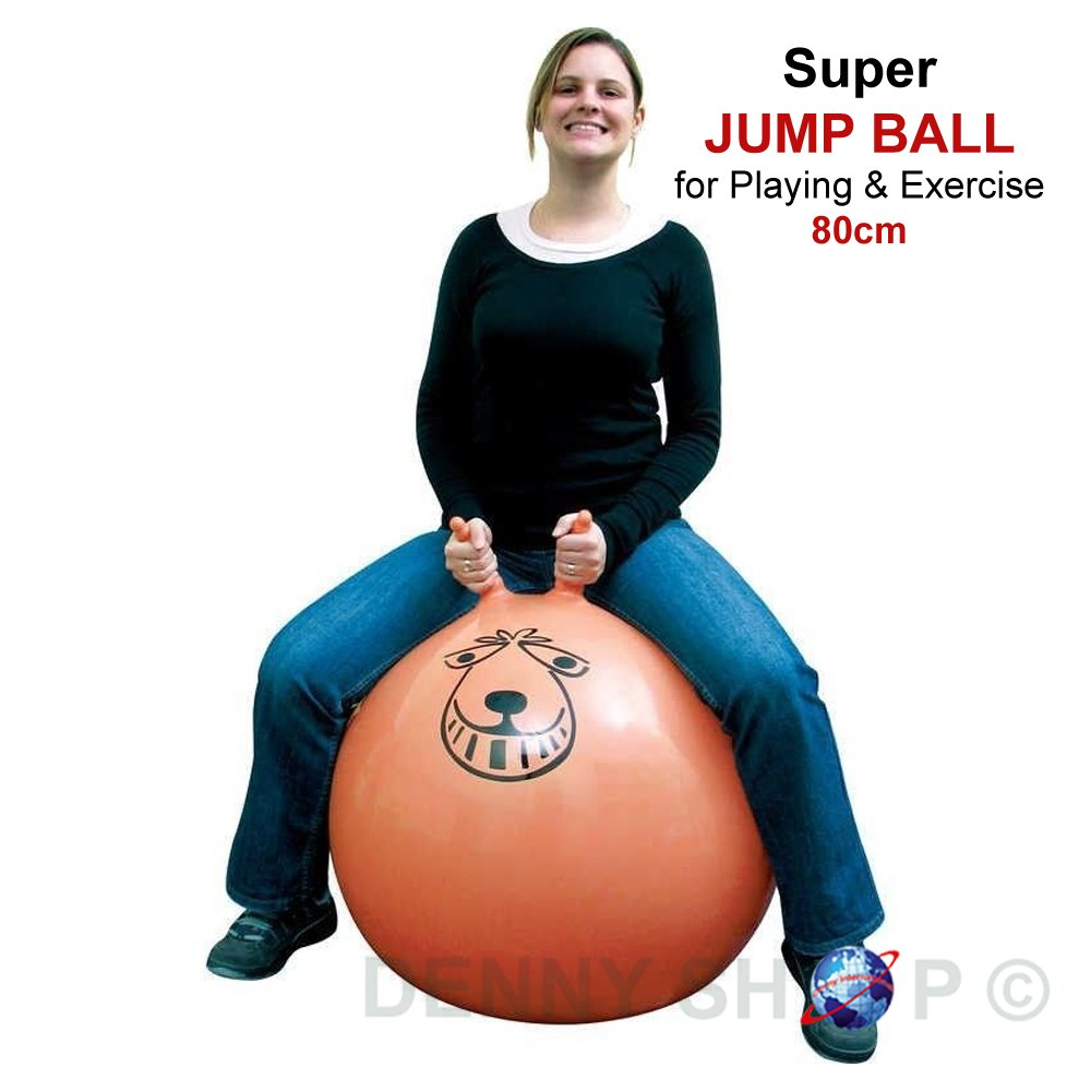 Large Retro Space Hopper Exercise Play Toy Ball Indoor Outdoor Adult Kids Party Game 60cm / 80cm Denny International®