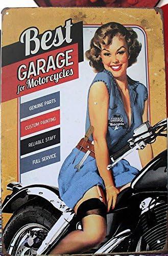 KB Stile Vintage Best Garage Retro da Parete in Metallo Targa in Metallo 30/x 20/cm