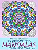 img - for Stress-Melting Mandalas Adult Coloring Book - Volume 1: 65 Designs for Stress Relief and Relaxation book / textbook / text book