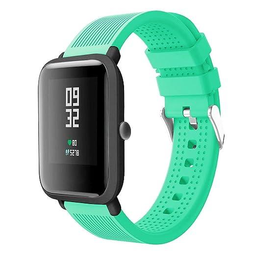 MYQyiyi 212mm Correa de Silicona de Reloj Reemplazo para Huami Amazfit Bip Watch: Amazon.es: Relojes