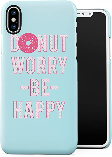 Donut Worry Be Happy Pink Doughnut Case Compatible with Apple ...