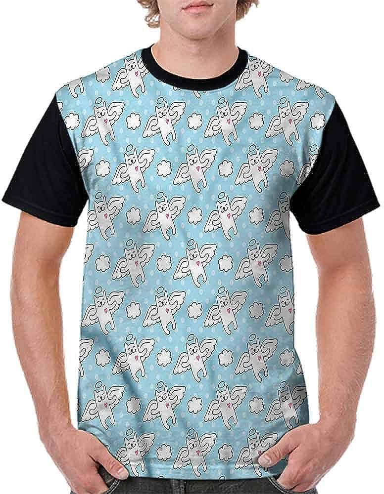 Teen t-Shirt,Cat Angels Hearts Kitty Fashion Personality Customization