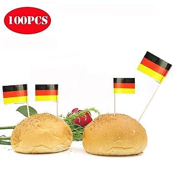 Lvhero Deutschland Flagge Zahnstocher Cupcake Eis Cocktail Stand Up