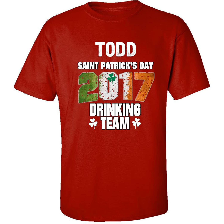 Todd Irish St Patricks Day 2017 Drinking Team - Adult Shirt