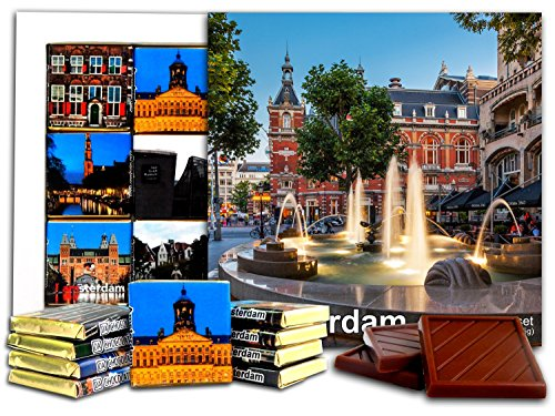 ouvenir AMSTERDAM Chocolate Gift Set 5x5in 1 box (Day) ()