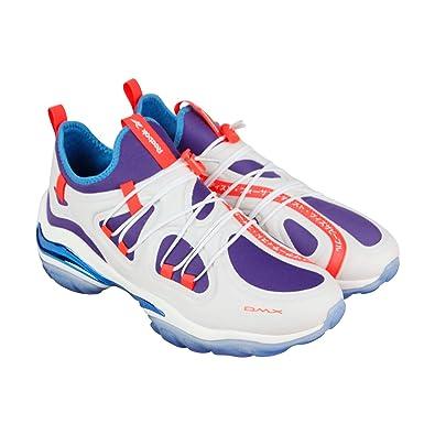 e7f2e278d5f0 Reebok DMX Series 2000 Low Mens White Blue Textile Athletic Running Shoes 10