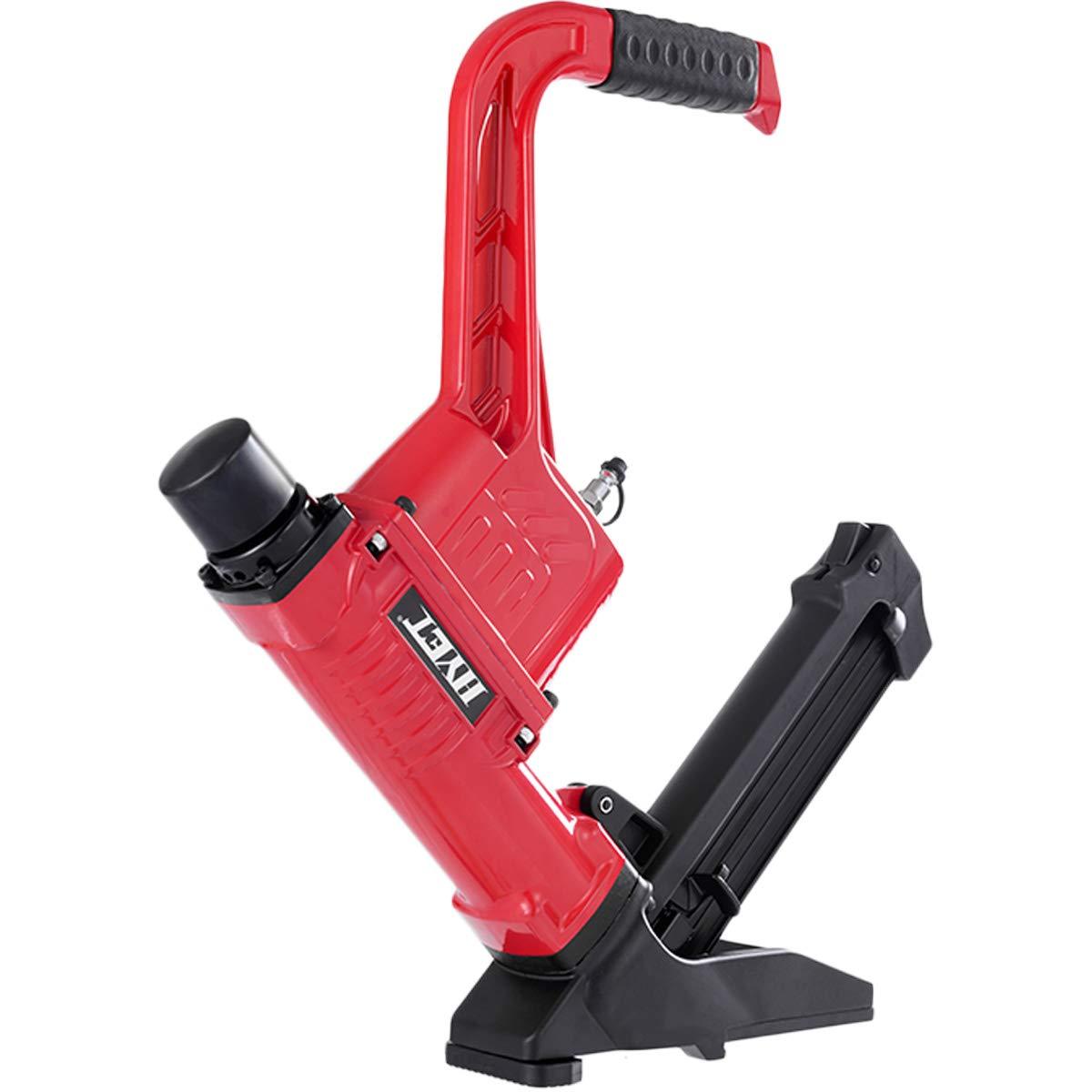 Goplus Pneumatic Flooring Nailer and Stapler 16-Gauge Cleat Air Hardwood Flooring Tool with Rubber Mallet 3-in-1