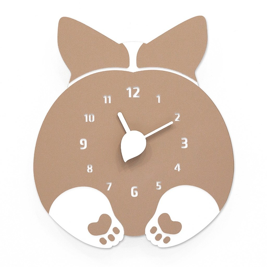 LINGZHIGAN 子供のための壁時計サイレント漫画の木製の壁の装飾ベッドルーム幼児の部屋幼稚園の居間の家庭の寝室12インチ (色 : B) B07CWTSQJX B B