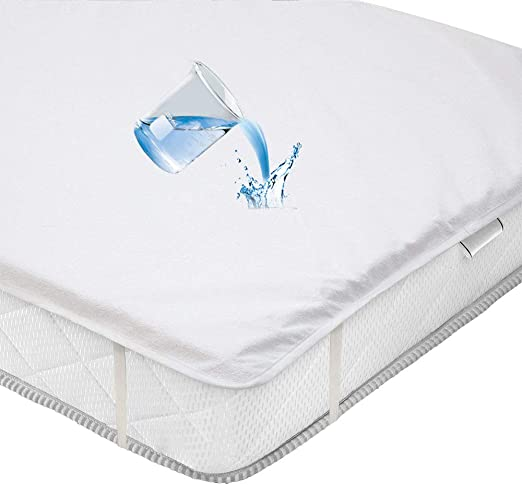 Funda de colchón impermeable de algodón Terry Sábanas anti ácaros ...