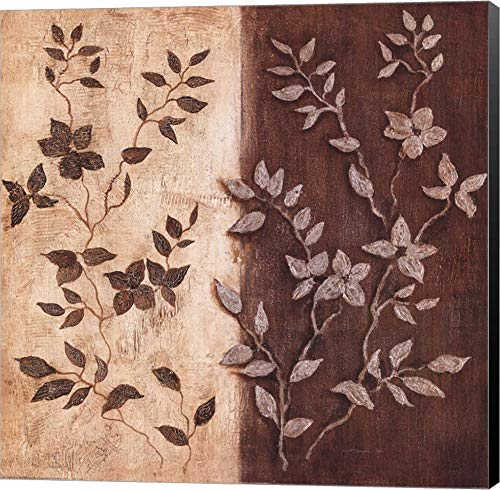 Russet Leaf Garland II by Janet Tava Canvas Art Wall Picture, Museum Wrapped with Black Sides, 20 x 20 inches